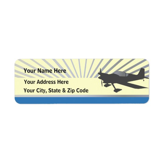 Vans RV-6 Return Address Label