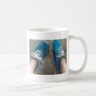 vans shoes blue basic white mug