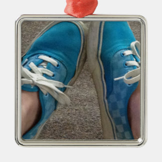 vans shoes blue christmas ornament