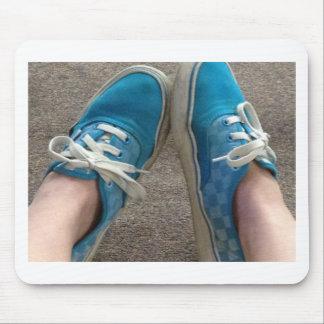 vans shoes blue mouse pad