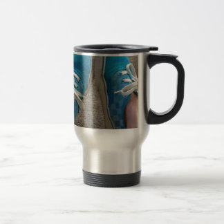 vans shoes blue stainless steel travel mug