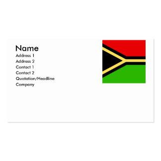 Vanuatu Pack Of Standard Business Cards
