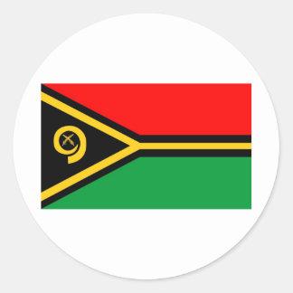 Vanuatu flag classic round sticker