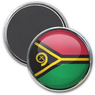 Vanuatu Flag Glass Ball Magnet