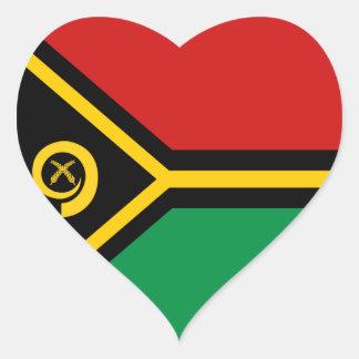 Vanuatu Flag Heart Sticker