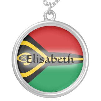 Vanuatu Flag + Name Necklace