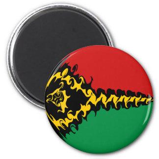 Vanuatu Gnarly Flag 6 Cm Round Magnet