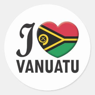 Vanuatu Love Classic Round Sticker