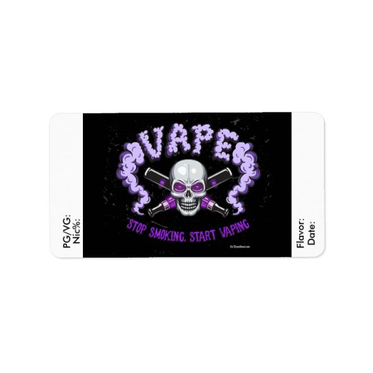 Vape | DIY E-Juice Label Purple Skull  by VapeGoat
