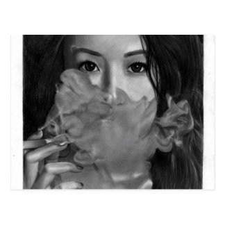 Vape Lady Smoking Hot Design Postcard
