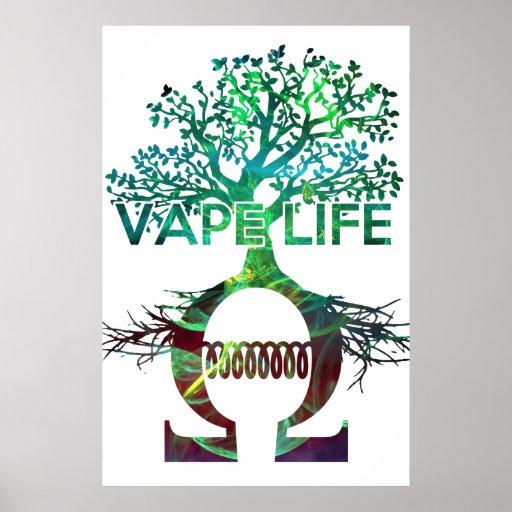 Vape Life Poster White BG