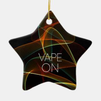 Vape On Orange Green Smoke Ceramic Star Decoration