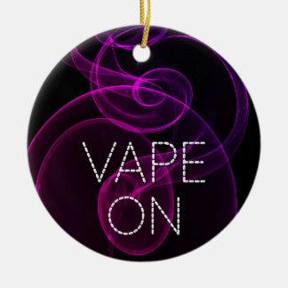 Vape On Pink Purple Grunge Smoke Christmas Ornament