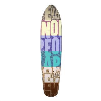 Vape On Typography Tan Turquoise Skate Board