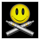 Vape Smiley Face Poster