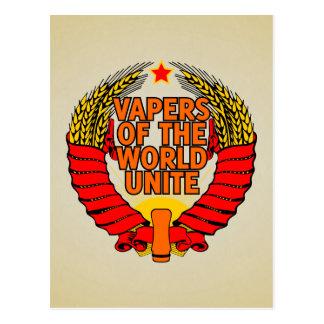 Vapers of the World Unite Postcard