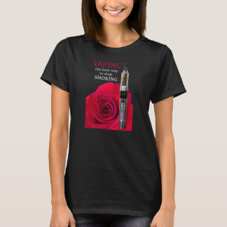Vaping and rose flower T-Shirt