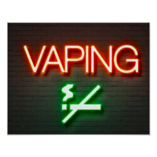 Vaping Neon Sign Poster