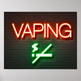 Vaping Neon Sign Poster
