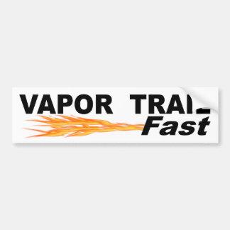 Vapor Trail Fast Bumper Sticker