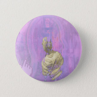 vaporwave aesthetic 6 cm round badge