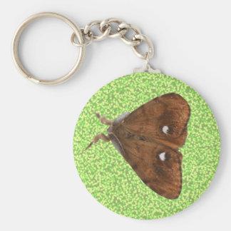 Vapourer Moth Keychain