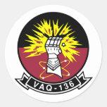 VAQ-136 Gauntlets Round Sticker