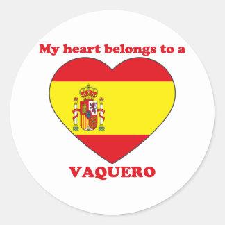 Vaquero Classic Round Sticker