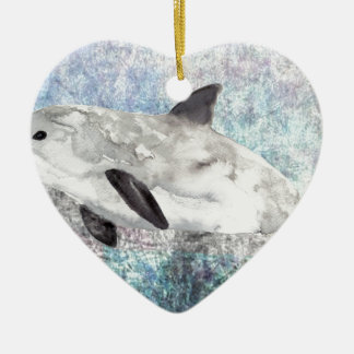 Vaquita River Dolphin Endangered Animal Painting Christmas Ornament