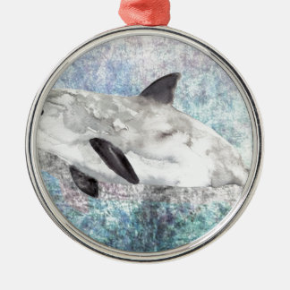 Vaquita River Dolphin Endangered Animal Painting Christmas Ornament