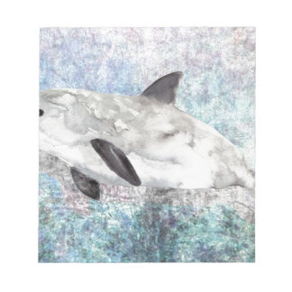 Vaquita River Dolphin Endangered Animal Painting Notepad