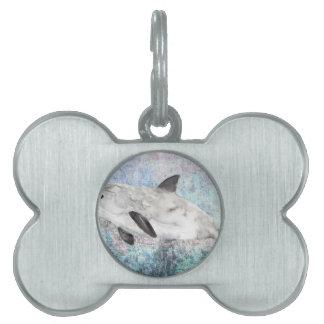 Vaquita River Dolphin Endangered Animal Painting Pet Name Tag