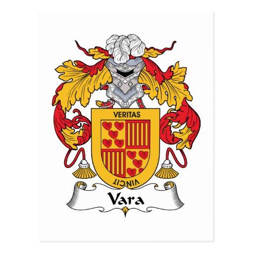 Vara Family Crest Post Cards