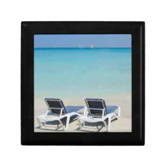 Varadero, Cuba. Sand And Beach Chairs Gift Box