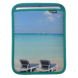 Varadero, Cuba. Sand And Beach Chairs iPad Sleeve