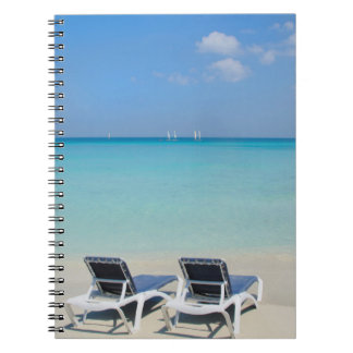 Varadero, Cuba. Sand And Beach Chairs Notebook