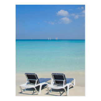 Varadero, Cuba. Sand And Beach Chairs Postcard