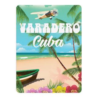 Varadero Cuban beach vacation poster 17 Cm X 22 Cm Invitation Card