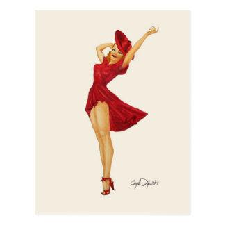 Vargas Pinup Girl - Mini Collectible Prints Postcard
