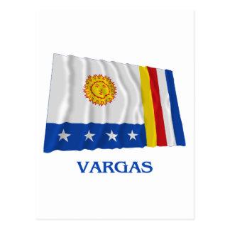 Vargas Waving Flag with Name Postcard