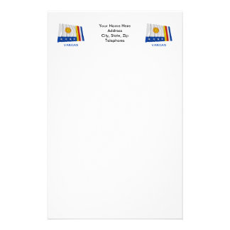 Vargas Waving Flag with Name Customized Stationery