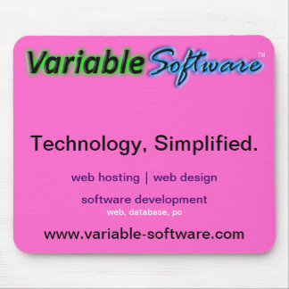 Variable Software Mouse pAD, pink Mouse Pad