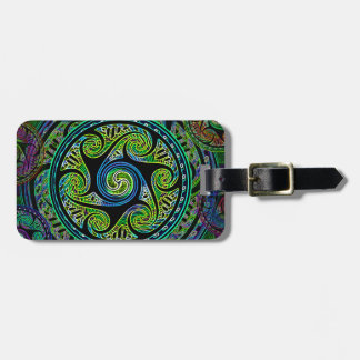 Variated Spheres Vibrant Celtic Knot Luggage Tag