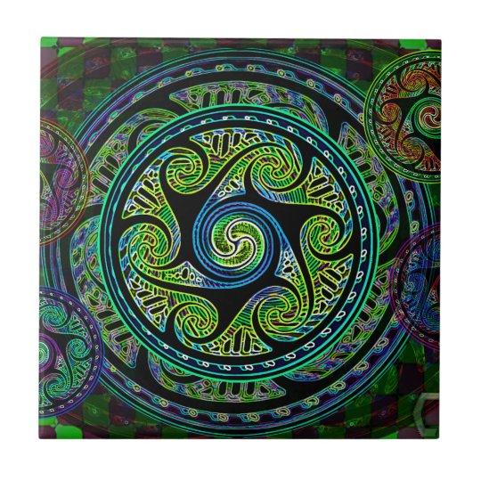 Variated Spheres Vibrant Celtic Knot Tile