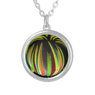 Variation ColoursI in Ball Silver Plated Necklace