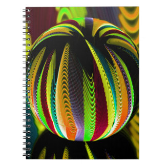 Variation ColoursI in Ball Spiral Notebook