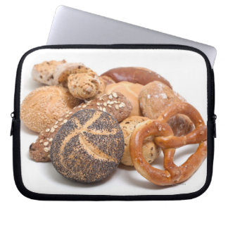 variation of baked goods laptop sleeve
