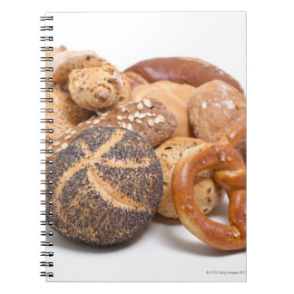 variation of baked goods notebooks