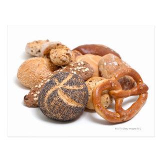 variation of baked goods postcard