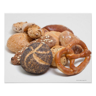 variation of baked goods poster